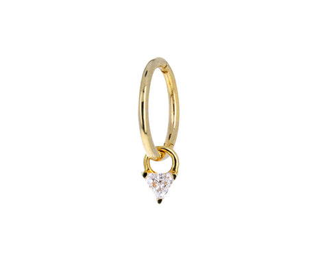 Diamond Trillion Dangle Charm ONLY