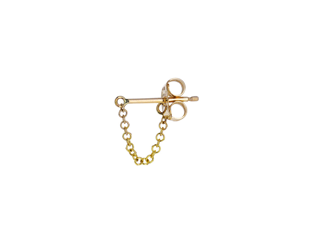 Gold Chain Wrap Stud SINGLE Earring