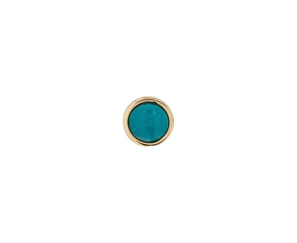 3mm Yellow Gold Turquoise SINGLE Stud