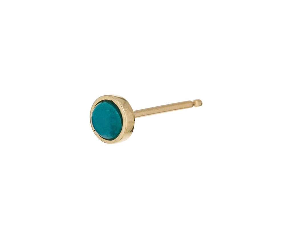 3mm Yellow Gold Turquoise SINGLE Stud - TWISTonline