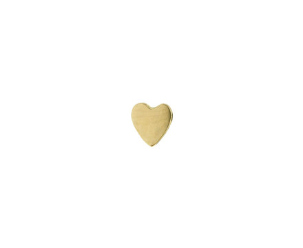Yellow Gold SINGLE Heart Stud - TWISTonline
