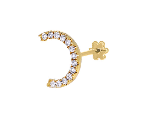 Diamond Demi Eternity Threaded SINGLE Stud Earring