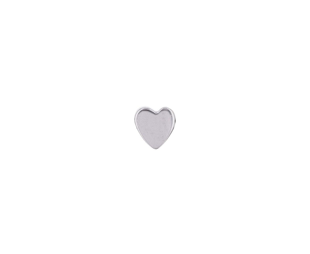 White Gold SINGLE Heart Stud - TWISTonline