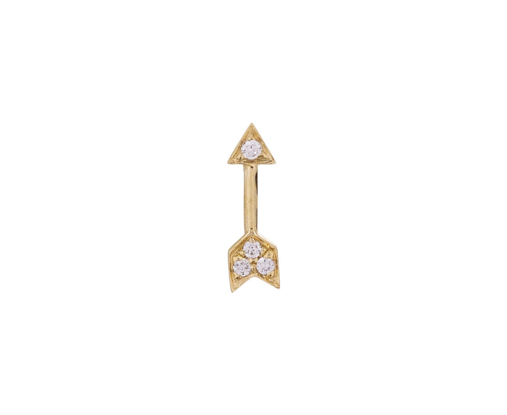 Yellow Gold Arrow SINGLE Stud - TWISTonline
