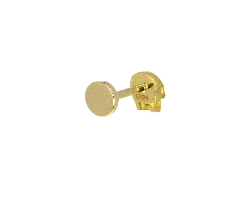 Yellow Gold Ruby Eye Skull SINGLE Stud