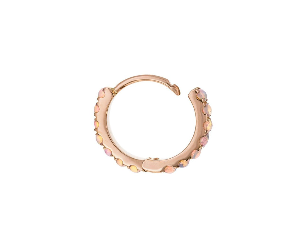 5/16 Rose Gold Opal Eternity SINGLE Hoop - TWISTonline