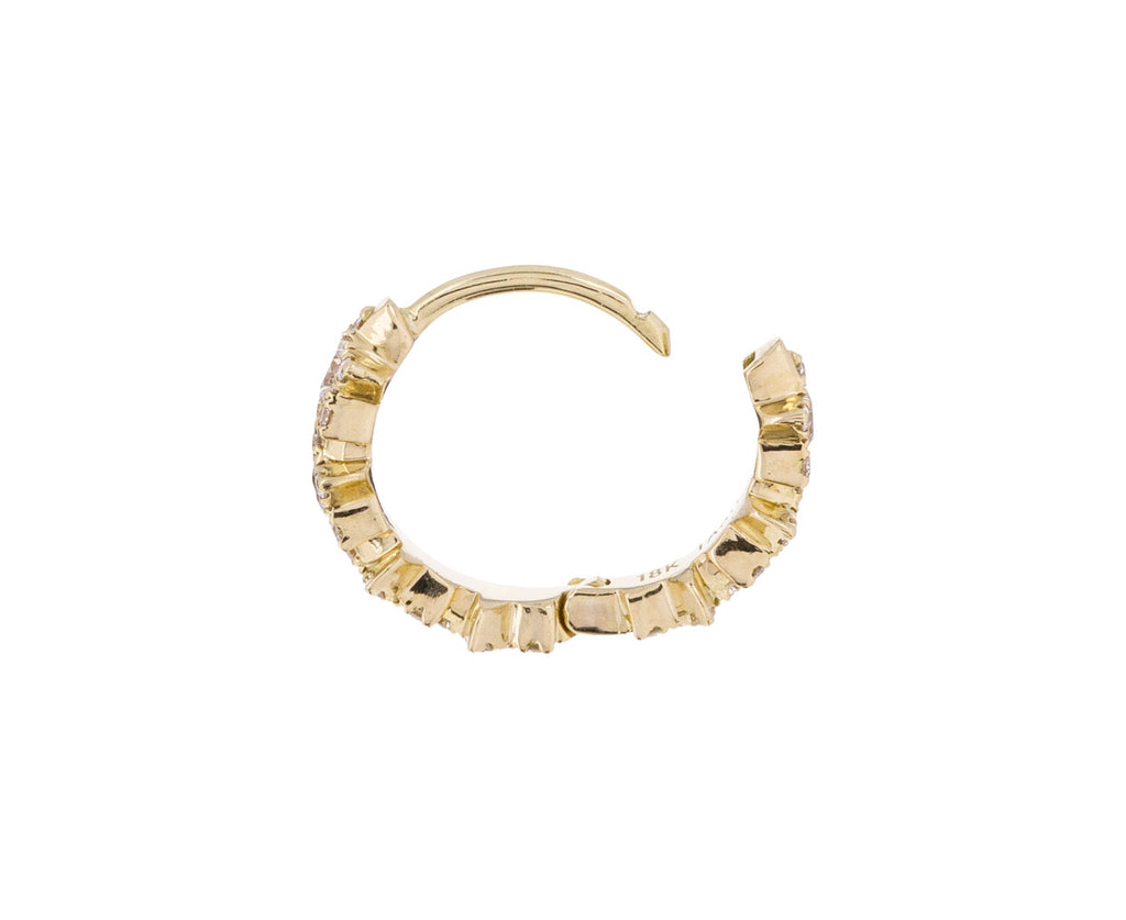 5/16 Yellow Gold Diamond Constellation SINGLE Hoop - TWISTonline