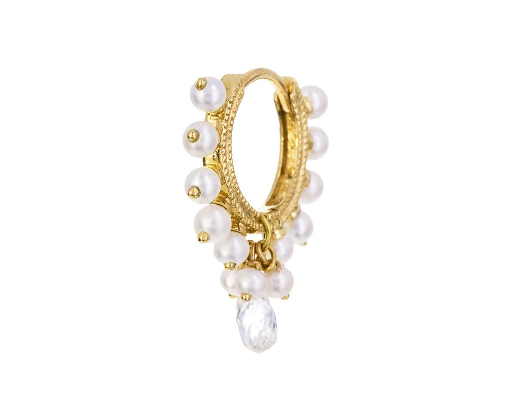 5/16 Pearl and Diamond Coronet SINGLE Hoop - TWISTonline