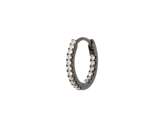 5/16 Black Gold Diamond Eternity SINGLE Hoop - TWISTonline