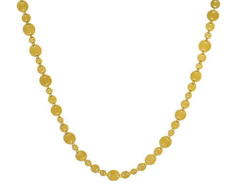 Small Irregular Gold Sequin Necklace - TWISTonline