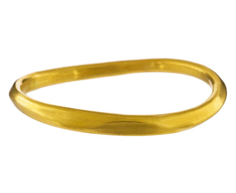 Asymmetrical Gold Bangle Bracelet - TWISTonline