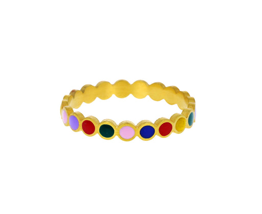 Multicolored Sequin Ring
