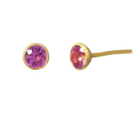 Small Pink Sapphire Bindi Stud Earrings - TWISTonline