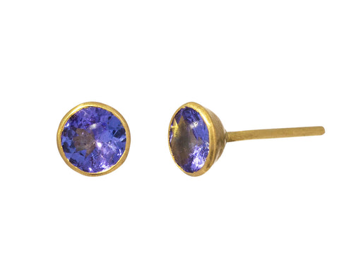 Small Tanzanite Bindi Stud Earrings