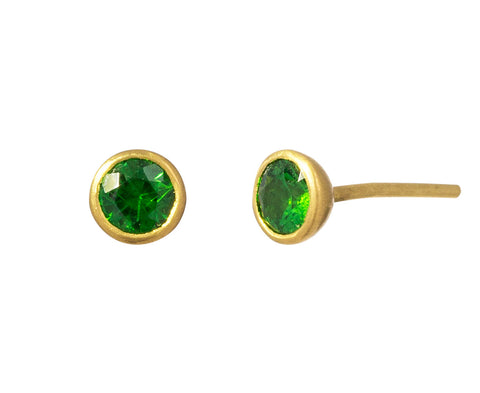 Small Tsavorite Bindi Stud Earrings