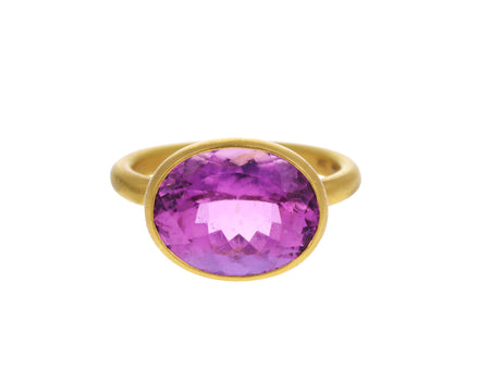 Pink Tourmaline Princess Ring