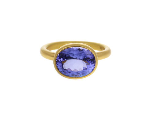 Small Tanzanite Princess Ring