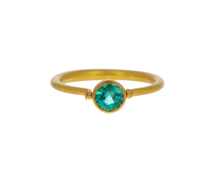 Emerald Mini Swivel Ring