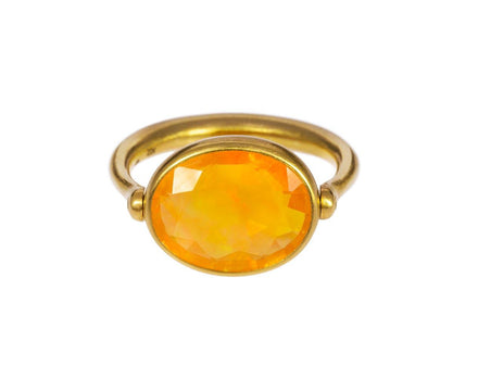 Fire Opal Swivel Ring - TWISTonline