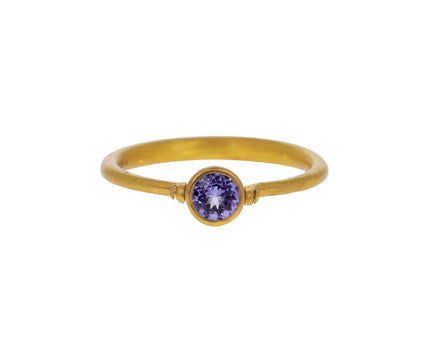Tanzanite Mini Swivel Ring