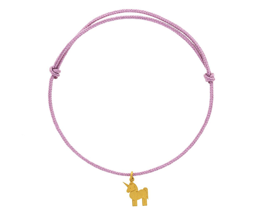 Light Dusty Pink Unicorn Charm Bracelet - TWISTonline