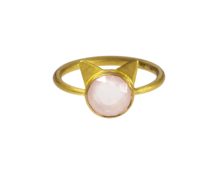 Rose Quartz Cat Ring - TWISTonline