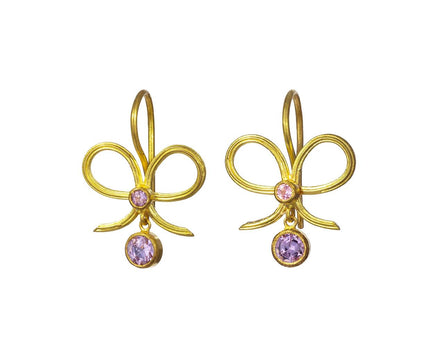 Pastel Sapphire Versailles Bow Earrings - TWISTonline