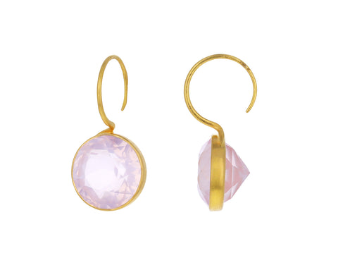 Rose Quartz Lady Like Earrings