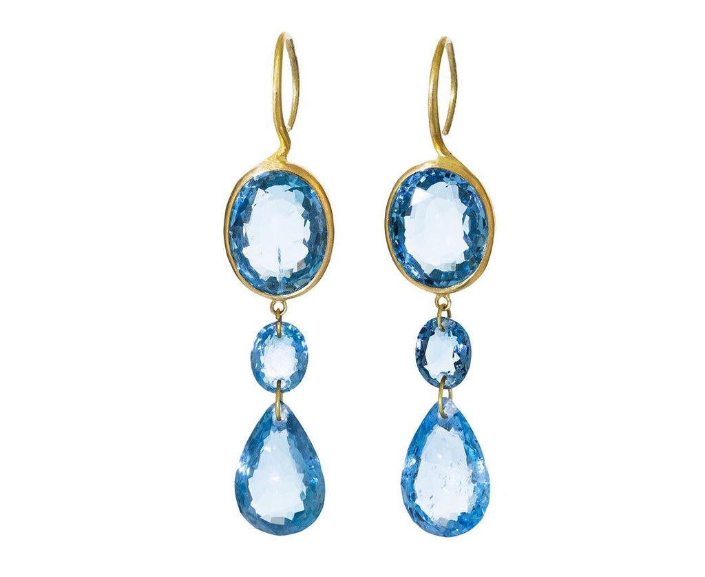 Aquamarine Elizabeth Taylor Earrings - TWISTonline