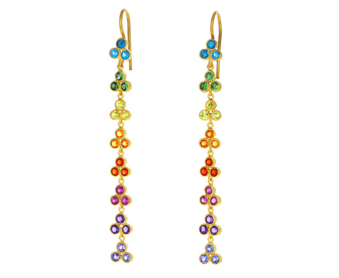Rainbow Bollywood Dangling Earrings