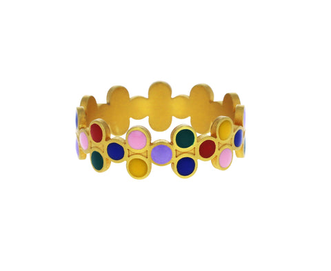 Rainbow Sequins Jali Ring