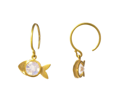 Rainbow Moonstone Dory the Fish Hoops - TWISTonline