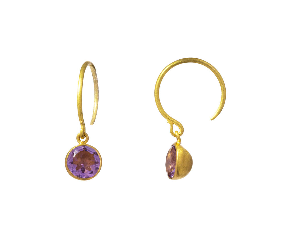 Small Rainbow Amethyst Bindi Hoop Earrings - TWISTonline