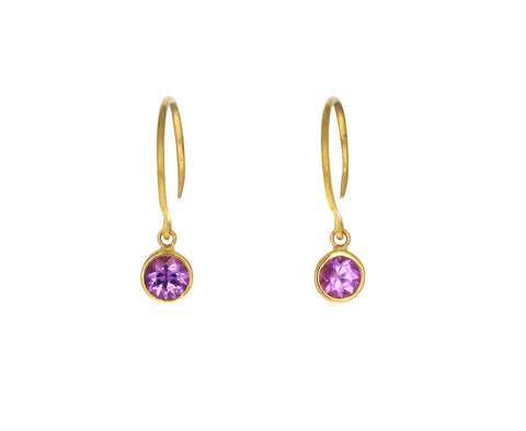 Pink Sapphire Bindi Hoop Earrings