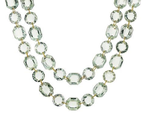 Green Quartz Spring Sautoir Necklace
