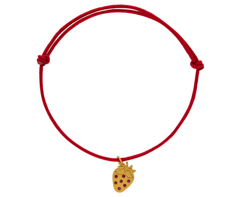 Ruby Strawberry Charm Bracelet - TWISTonline