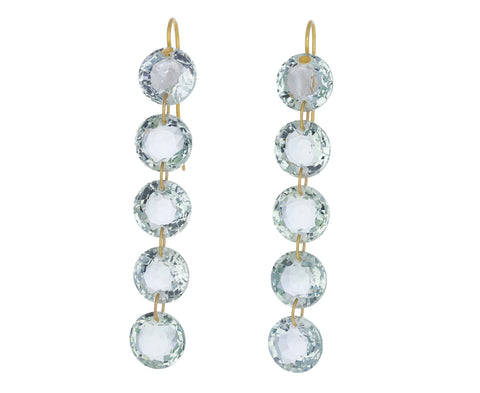 Green Quartz Rivieres Earrings