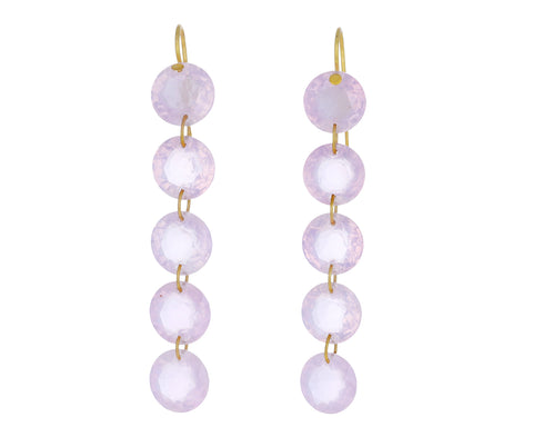 Rose Quartz Rivieres Earrings