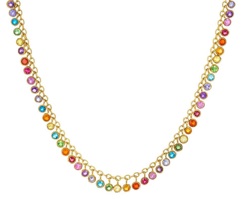 Multitude of Rainbow Sequins Necklace - TWISTonline