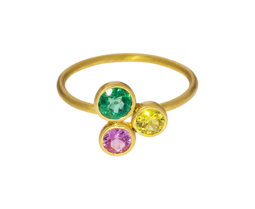 Miniature Multi Gem Madmen Ring - TWISTonline