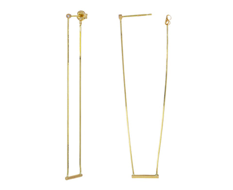 Diamond Middle Swing Earring