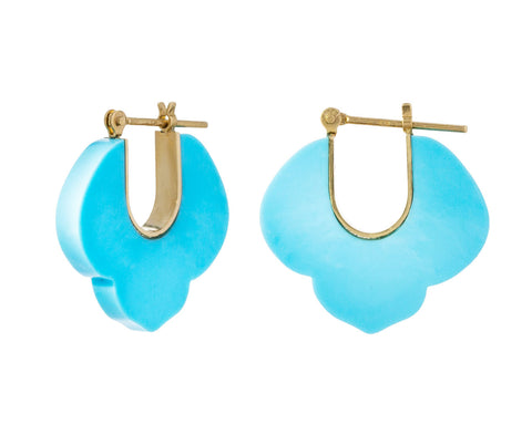 Turquoise Crest Hoops