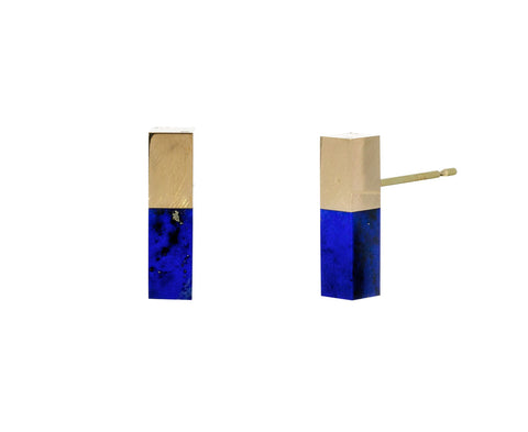 Lapis Stick Earrings