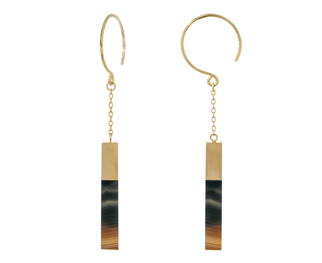 Banded Agate Stick Hoops