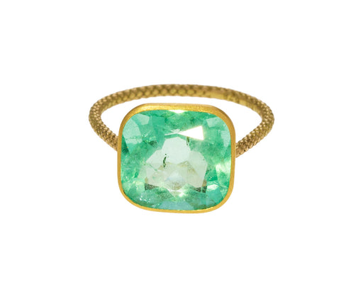 Pale Green Emerald Ring