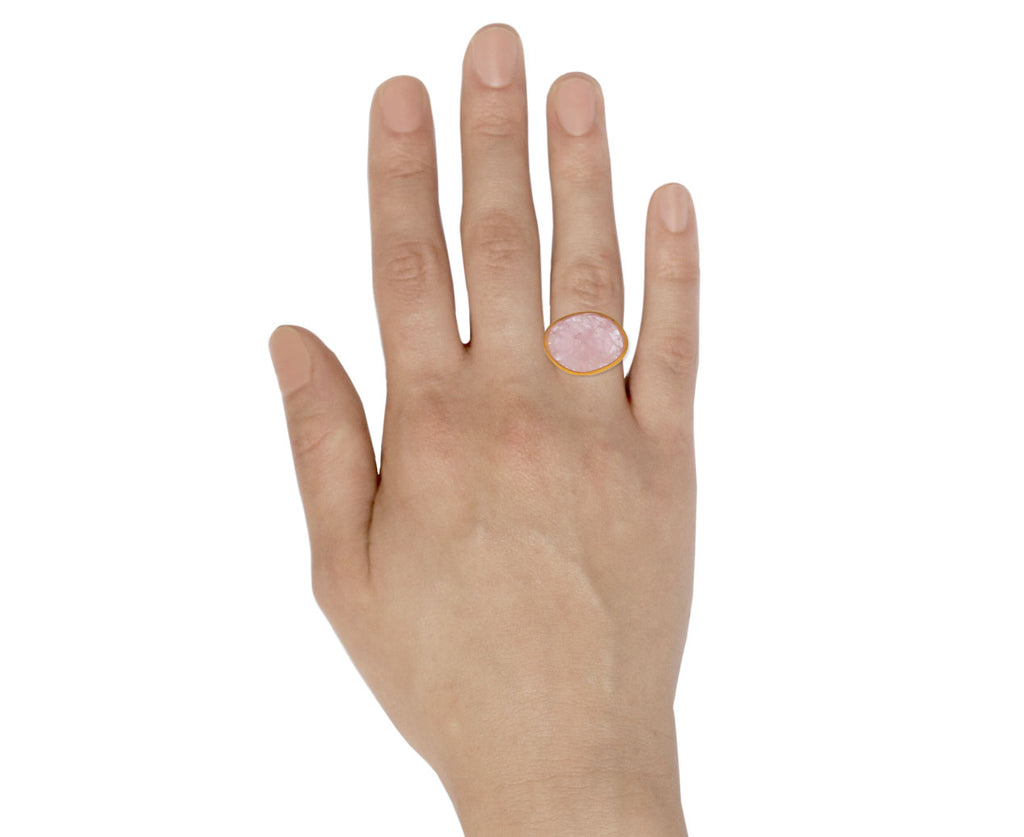 Asymmetrical Morganite Ring