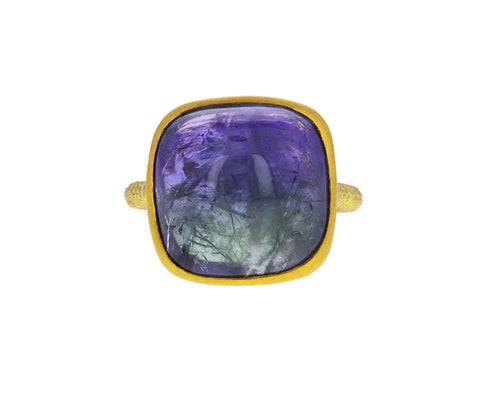 Domed Bi-Color Tanzanite Ring