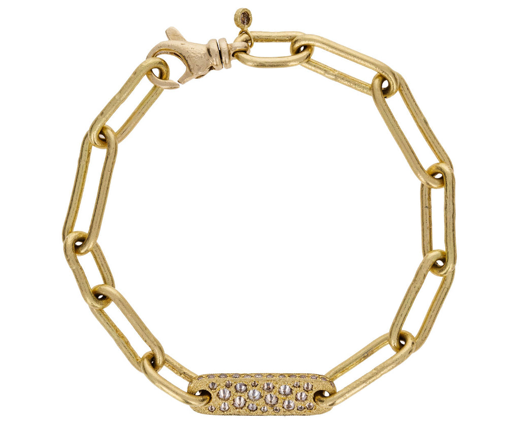 Gold and Diamond Link Chain Bracelet - TWISTonline