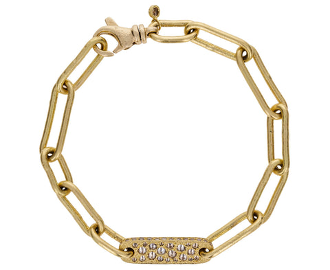 Gold and Diamond Link Chain Bracelet