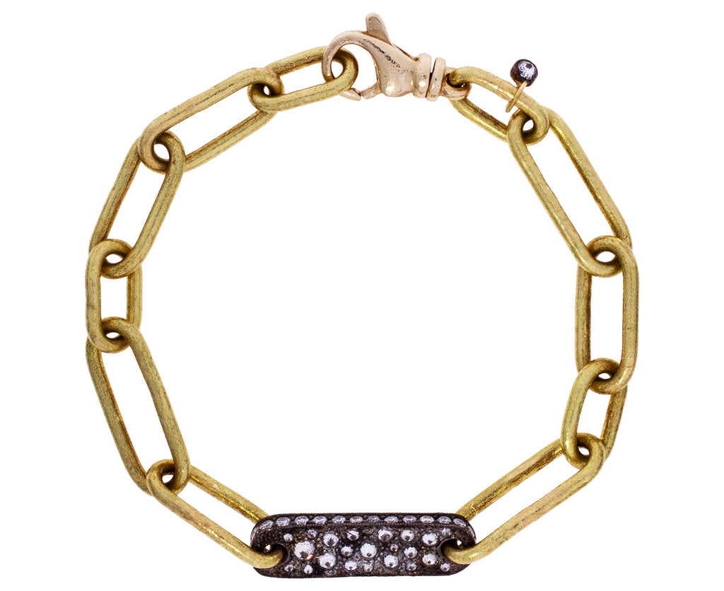 Gold and Diamond Chain Bracelet